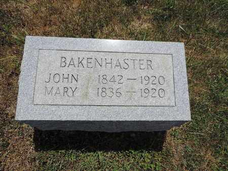 BAKENHASTER, JOHN - Pike County, Ohio | JOHN BAKENHASTER - Ohio Gravestone Photos