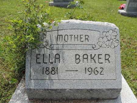 BAKER, ELLA - Pike County, Ohio | ELLA BAKER - Ohio Gravestone Photos