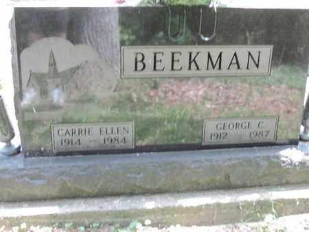 BEEKMAN, CARRIE ELLEN - Pike County, Ohio   CARRIE ELLEN BEEKMAN - Ohio Gravestone Photos