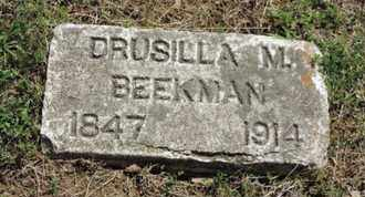 BEEKMAN, DRUSILLA M - Pike County, Ohio   DRUSILLA M BEEKMAN - Ohio Gravestone Photos