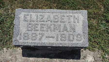 BEEKMAN, ELIZABETH - Pike County, Ohio | ELIZABETH BEEKMAN - Ohio Gravestone Photos