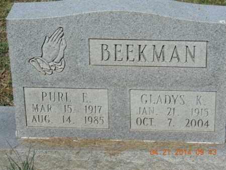 BEEKMAN, PURL E - Pike County, Ohio | PURL E BEEKMAN - Ohio Gravestone Photos
