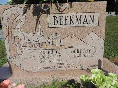 BEEKMAN, RALPH G. - Pike County, Ohio | RALPH G. BEEKMAN - Ohio Gravestone Photos