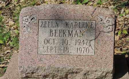 BEEKMAN, ZELLA - Pike County, Ohio | ZELLA BEEKMAN - Ohio Gravestone Photos