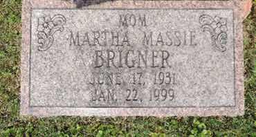 MASSIE BRIGNER, MARTHA - Pike County, Ohio   MARTHA MASSIE BRIGNER - Ohio Gravestone Photos