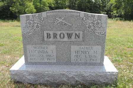 BROWN, HENRY H. - Pike County, Ohio   HENRY H. BROWN - Ohio Gravestone Photos