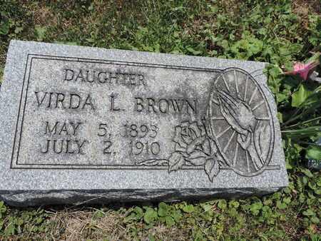 BROWN, VIRDA L. - Pike County, Ohio | VIRDA L. BROWN - Ohio Gravestone Photos