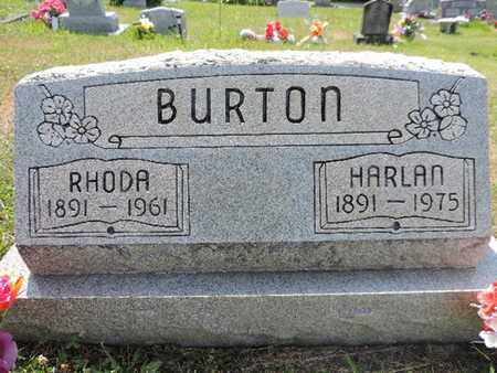 BURTON, HARLAN - Pike County, Ohio | HARLAN BURTON - Ohio Gravestone Photos