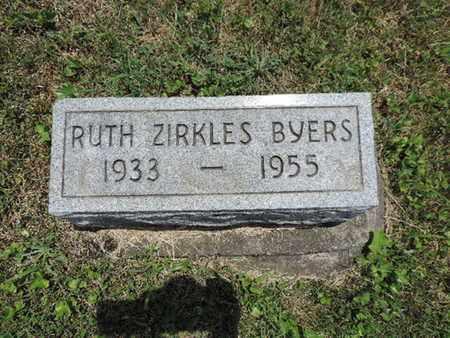 ZIRKLES BYERS, RUTH - Pike County, Ohio | RUTH ZIRKLES BYERS - Ohio Gravestone Photos