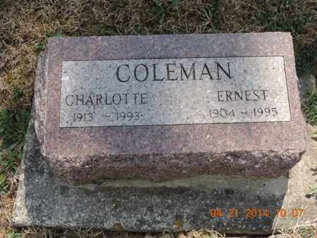 COLEMAN, CHARLOTTE - Pike County, Ohio | CHARLOTTE COLEMAN - Ohio Gravestone Photos