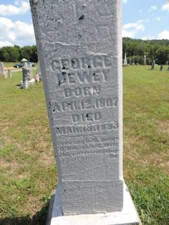 DEWEY, GEORGE - Pike County, Ohio | GEORGE DEWEY - Ohio Gravestone Photos