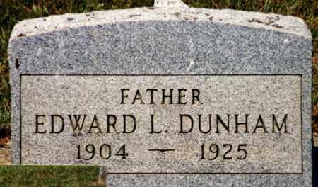 DUNHAM, EDWARD L. - Pike County, Ohio | EDWARD L. DUNHAM - Ohio Gravestone Photos