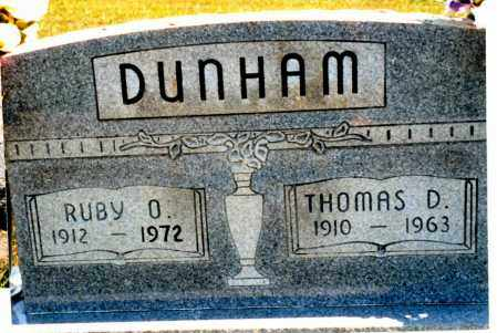 DUNHAM, RUBY OLIVE - Pike County, Ohio | RUBY OLIVE DUNHAM - Ohio Gravestone Photos