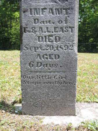 EAST, INFANT - Pike County, Ohio | INFANT EAST - Ohio Gravestone Photos