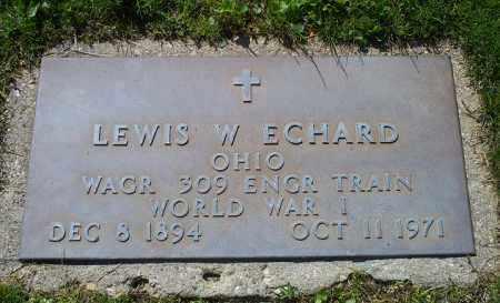 ECHARD, LEWIS W. - Pike County, Ohio | LEWIS W. ECHARD - Ohio Gravestone Photos
