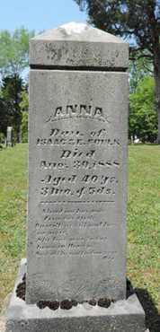 FOULK, ANNA - Pike County, Ohio | ANNA FOULK - Ohio Gravestone Photos