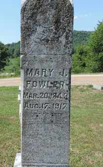 FOWLER, MARY J. - Pike County, Ohio | MARY J. FOWLER - Ohio Gravestone Photos