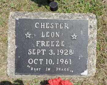 FREEZE, CHESTER LEON - Pike County, Ohio | CHESTER LEON FREEZE - Ohio Gravestone Photos