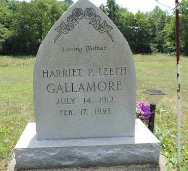 LEETH GALLAMORE, HARRIET P - Pike County, Ohio | HARRIET P LEETH GALLAMORE - Ohio Gravestone Photos