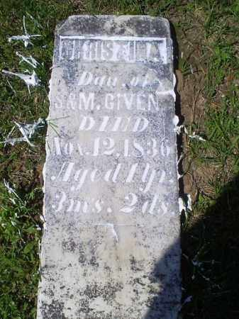 GIVENS, CHRISTINA - Pike County, Ohio | CHRISTINA GIVENS - Ohio Gravestone Photos