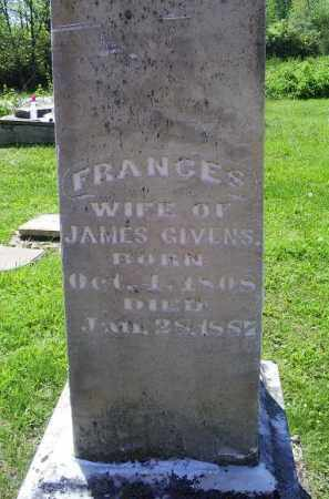 GIVENS, FRANCES - Pike County, Ohio | FRANCES GIVENS - Ohio Gravestone Photos