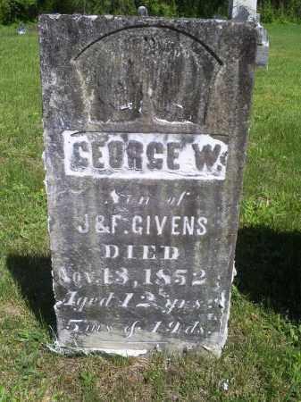 GIVENS, GEORGE W. - Pike County, Ohio | GEORGE W. GIVENS - Ohio Gravestone Photos