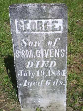 GIVENS, GEORGE - Pike County, Ohio | GEORGE GIVENS - Ohio Gravestone Photos