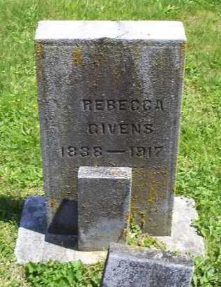 GIVENS, REBECCA - Pike County, Ohio | REBECCA GIVENS - Ohio Gravestone Photos