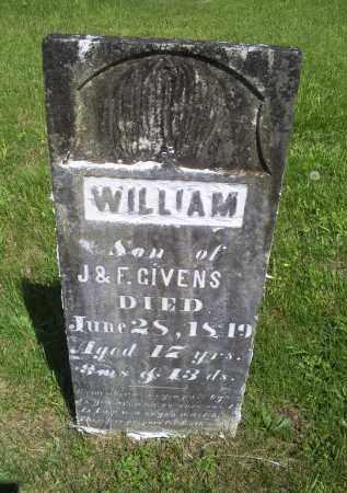 GIVENS, WILLIAM - Pike County, Ohio | WILLIAM GIVENS - Ohio Gravestone Photos