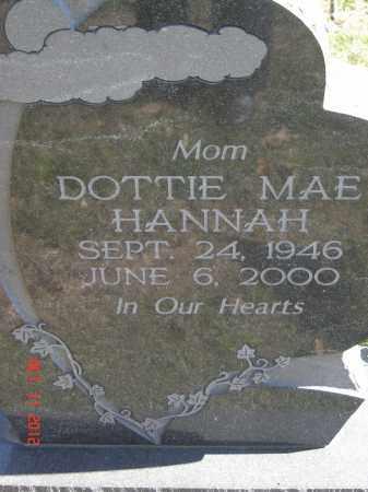 HANNAH, DOTTIE MAE - Pike County, Ohio | DOTTIE MAE HANNAH - Ohio Gravestone Photos