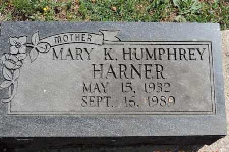 HUMPHREY HARNER, MARY K - Pike County, Ohio | MARY K HUMPHREY HARNER - Ohio Gravestone Photos