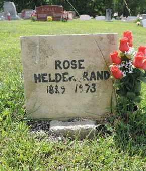 HELDERBRAND, ROSE - Pike County, Ohio   ROSE HELDERBRAND - Ohio Gravestone Photos