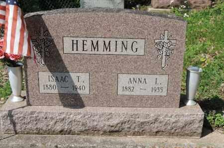 HEMMING, ISAAC T. - Pike County, Ohio   ISAAC T. HEMMING - Ohio Gravestone Photos