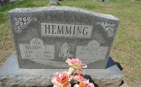 HEMMING, MYRON I. - Pike County, Ohio | MYRON I. HEMMING - Ohio Gravestone Photos