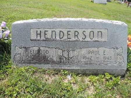 HENDERSON, ELWOOD - Pike County, Ohio | ELWOOD HENDERSON - Ohio Gravestone Photos