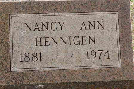 HENNIGEN, NANCY ANN - Pike County, Ohio   NANCY ANN HENNIGEN - Ohio Gravestone Photos