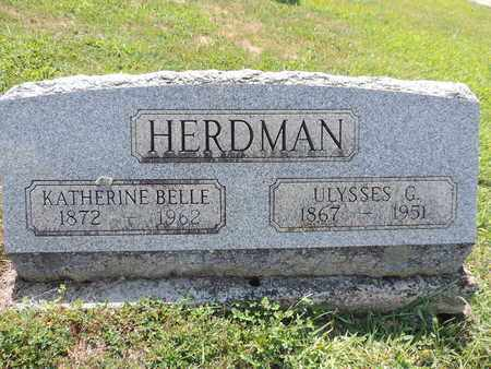HERDMAN, KATHERINE BELLE - Pike County, Ohio   KATHERINE BELLE HERDMAN - Ohio Gravestone Photos