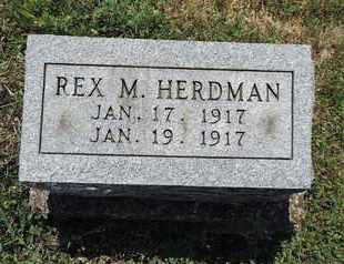 HERDMAN, REX M. - Pike County, Ohio | REX M. HERDMAN - Ohio Gravestone Photos