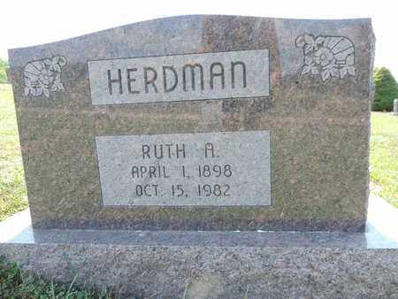 HERDMAN, RUTH A. - Pike County, Ohio | RUTH A. HERDMAN - Ohio Gravestone Photos