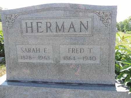 HERMAN, FRED T. - Pike County, Ohio | FRED T. HERMAN - Ohio Gravestone Photos