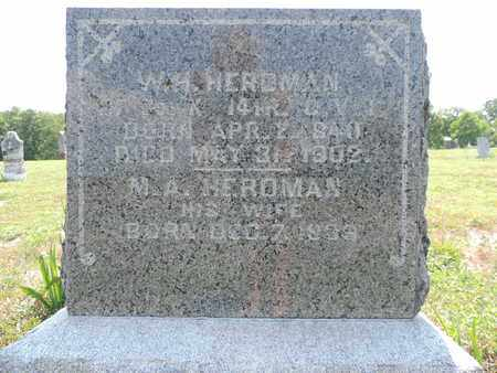 HERDMAN, W.H. - Pike County, Ohio | W.H. HERDMAN - Ohio Gravestone Photos