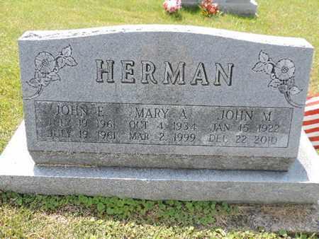HERMAN, JOHN M. - Pike County, Ohio | JOHN M. HERMAN - Ohio Gravestone Photos