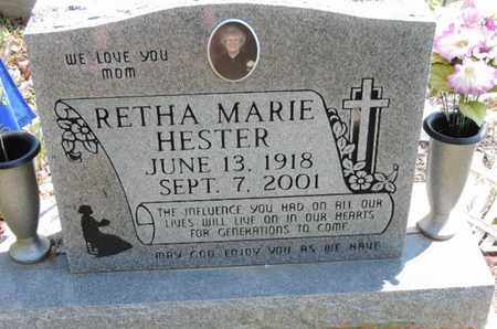 HESTER, RETHA MARIE - Pike County, Ohio | RETHA MARIE HESTER - Ohio Gravestone Photos