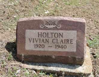 HOLTON, VIVIAN CLAIRE - Pike County, Ohio   VIVIAN CLAIRE HOLTON - Ohio Gravestone Photos
