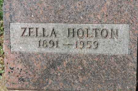 HOLTON, ZELLA - Pike County, Ohio | ZELLA HOLTON - Ohio Gravestone Photos