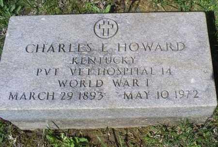 HOWARD, CHARLES E. - Pike County, Ohio   CHARLES E. HOWARD - Ohio Gravestone Photos