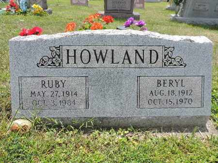 HOWLAND, BERYL - Pike County, Ohio | BERYL HOWLAND - Ohio Gravestone Photos