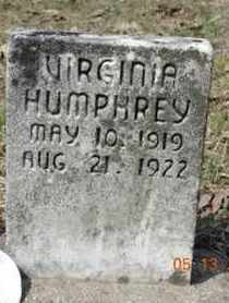 HUMPHREY, VIRGINIA - Pike County, Ohio | VIRGINIA HUMPHREY - Ohio Gravestone Photos
