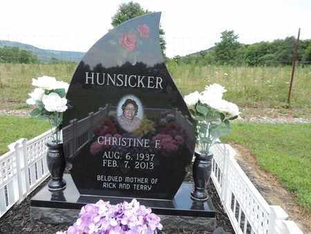 HUNSICKER, CHRISTINE F. - Pike County, Ohio | CHRISTINE F. HUNSICKER - Ohio Gravestone Photos