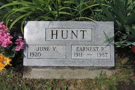 HUNT, EARNEST R. - Pike County, Ohio | EARNEST R. HUNT - Ohio Gravestone Photos